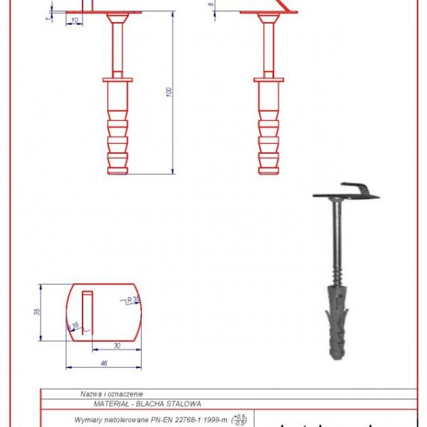 03a. Wall holder (screw in) f 12 L-100