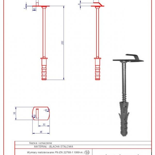 03d. Wall holder (screw in) f 12 L-200