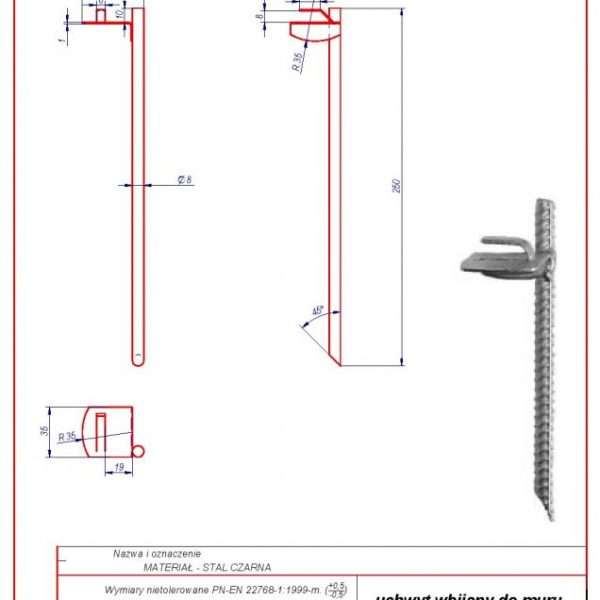 04. Wall holder L -250