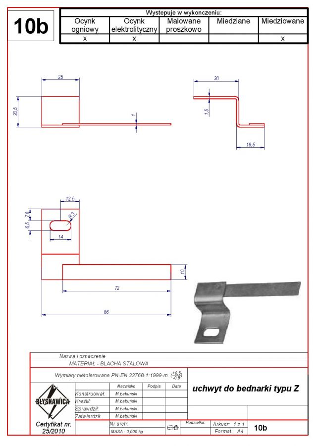 10b. Band-iron holder Z type