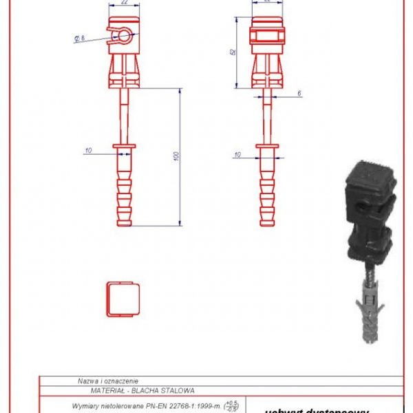 11b. Universal spacer f 10 L -100