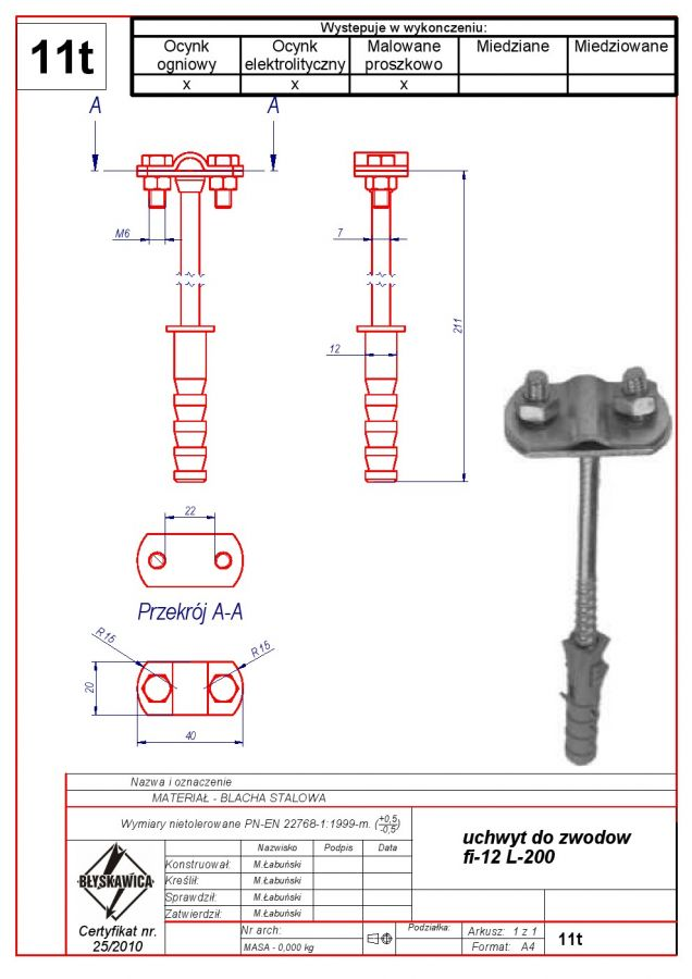11t. AIR TERMINAL-MOUNTED BRACKET f 12 L-200
