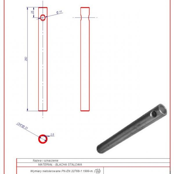 22b. Tension bracket L-250