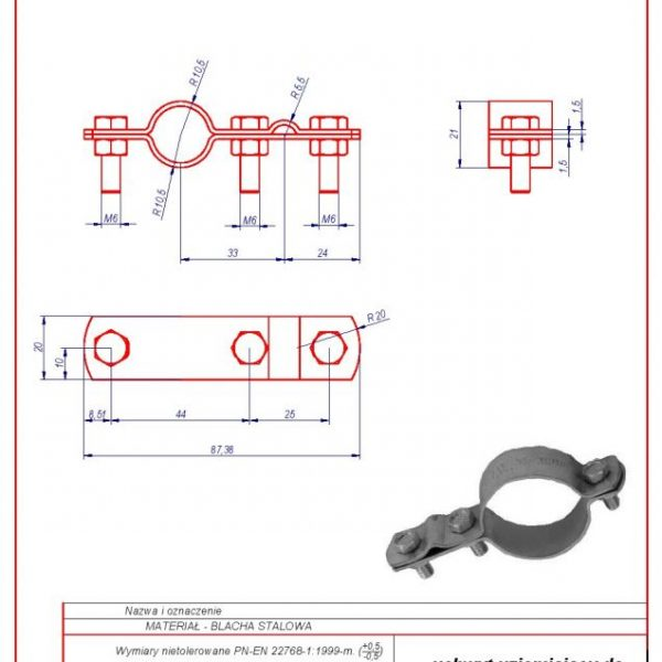 40. Grounding bracket for installation pipes 1/2″