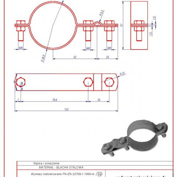 46. Grounding bracket for installation pipes 2″