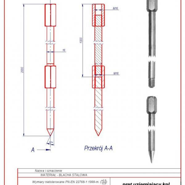 52. Grounding rod kpl.-2mb f 16 oc