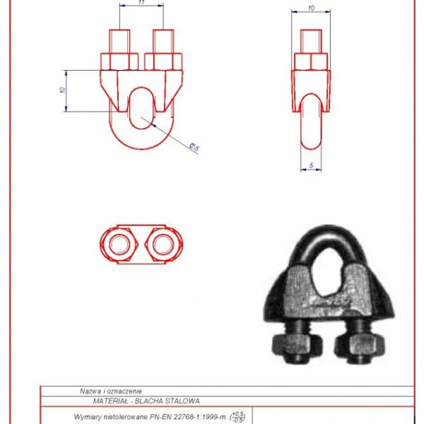 63f. Rope clamp 6