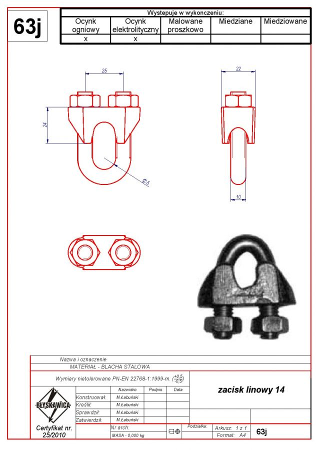 63j. Rope clamp 14